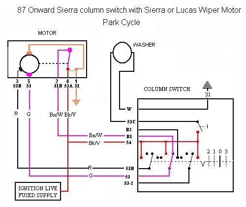 ford sierra wiper switch wiring  center wiring diagram fund